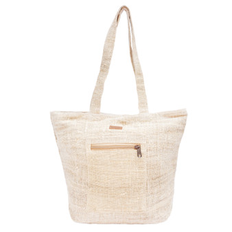 Spacious Hemp Tote Bag