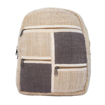 Handwoven Square Hemp Cotton Backpack