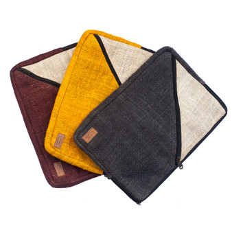 Geometric Hemp Laptop Sleeve
