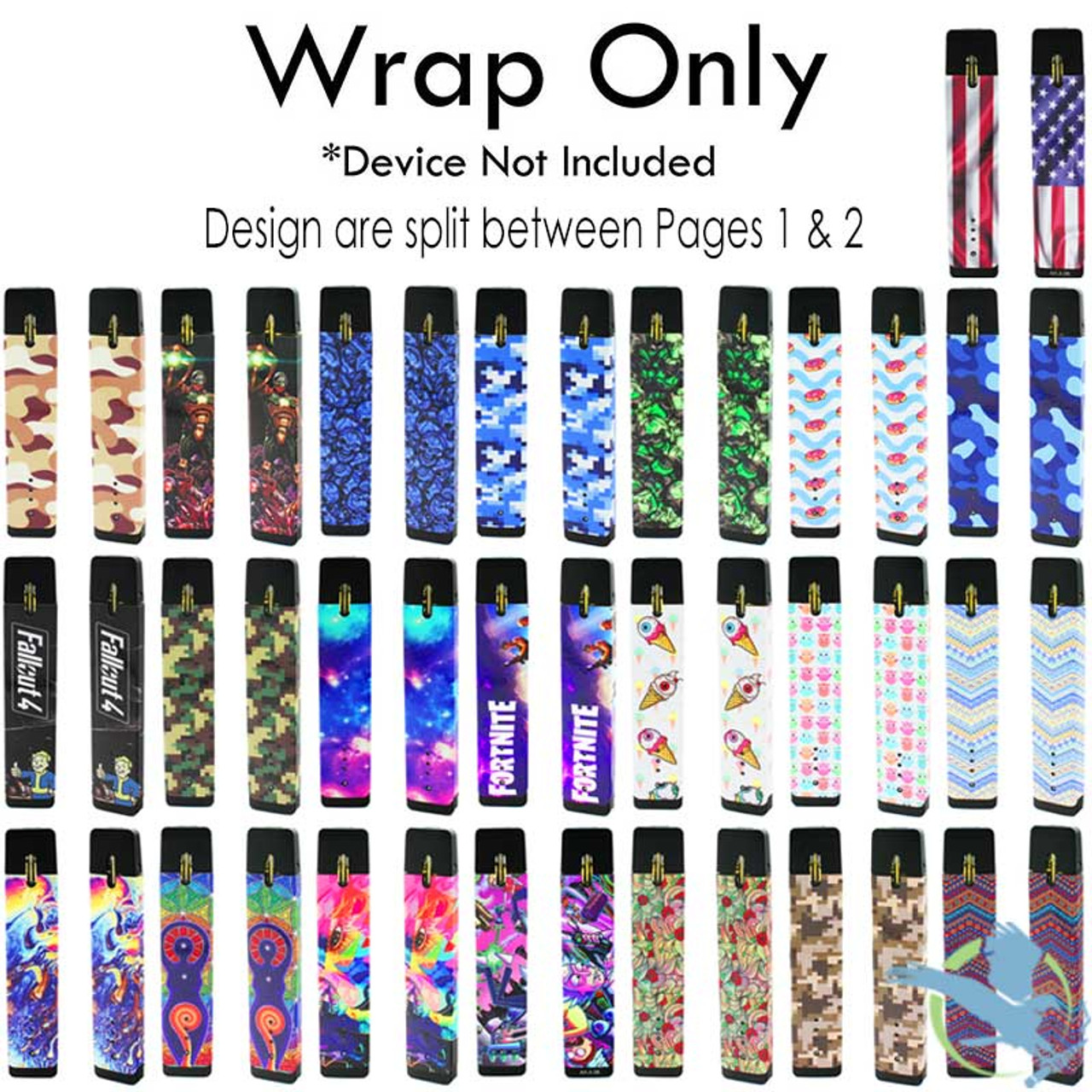 Vape Central Group Vinyl Wrap For Myle Pod System Page Two *Drop Ships*  (MSRP $10 00)