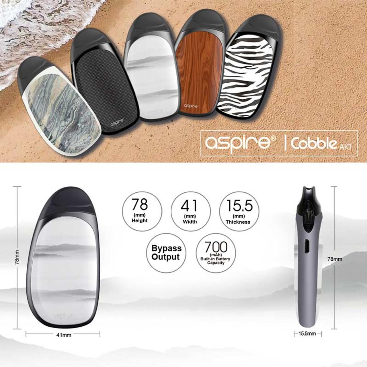 cobble pod  Aspire Cobble AIO 700mAh Starter Kit With 1.8ML Fillable Pod | Pod ...