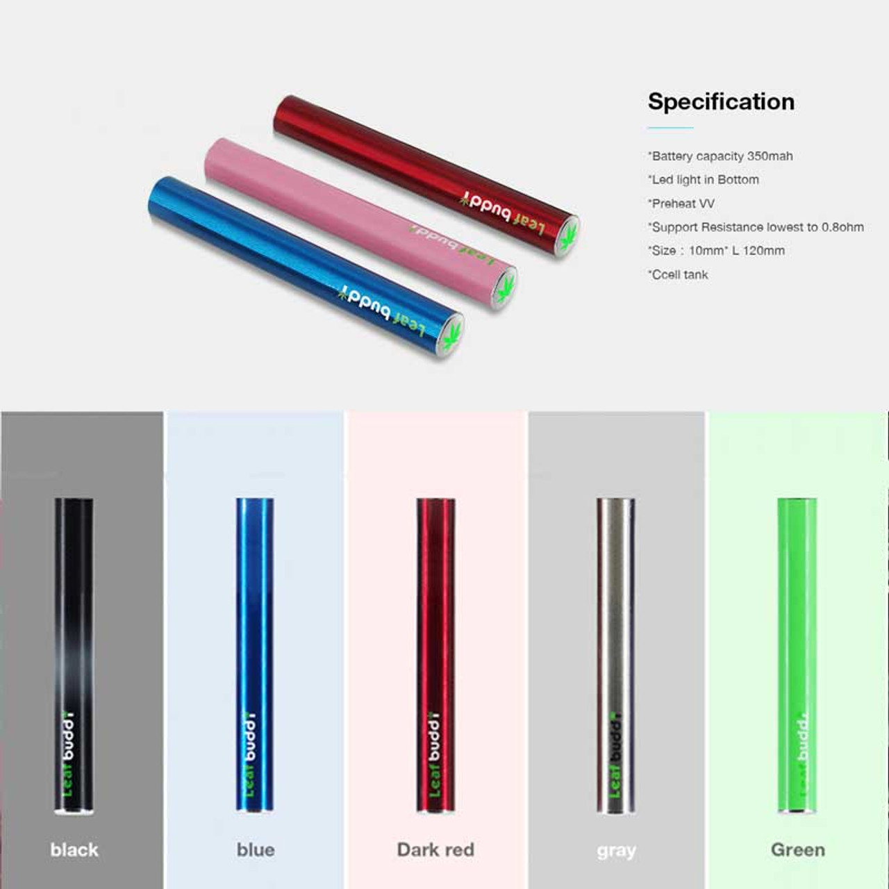 Leaf Buddi CL Ccell CE3 Battery 350mAh With USB Charger (MSRP $8 00)