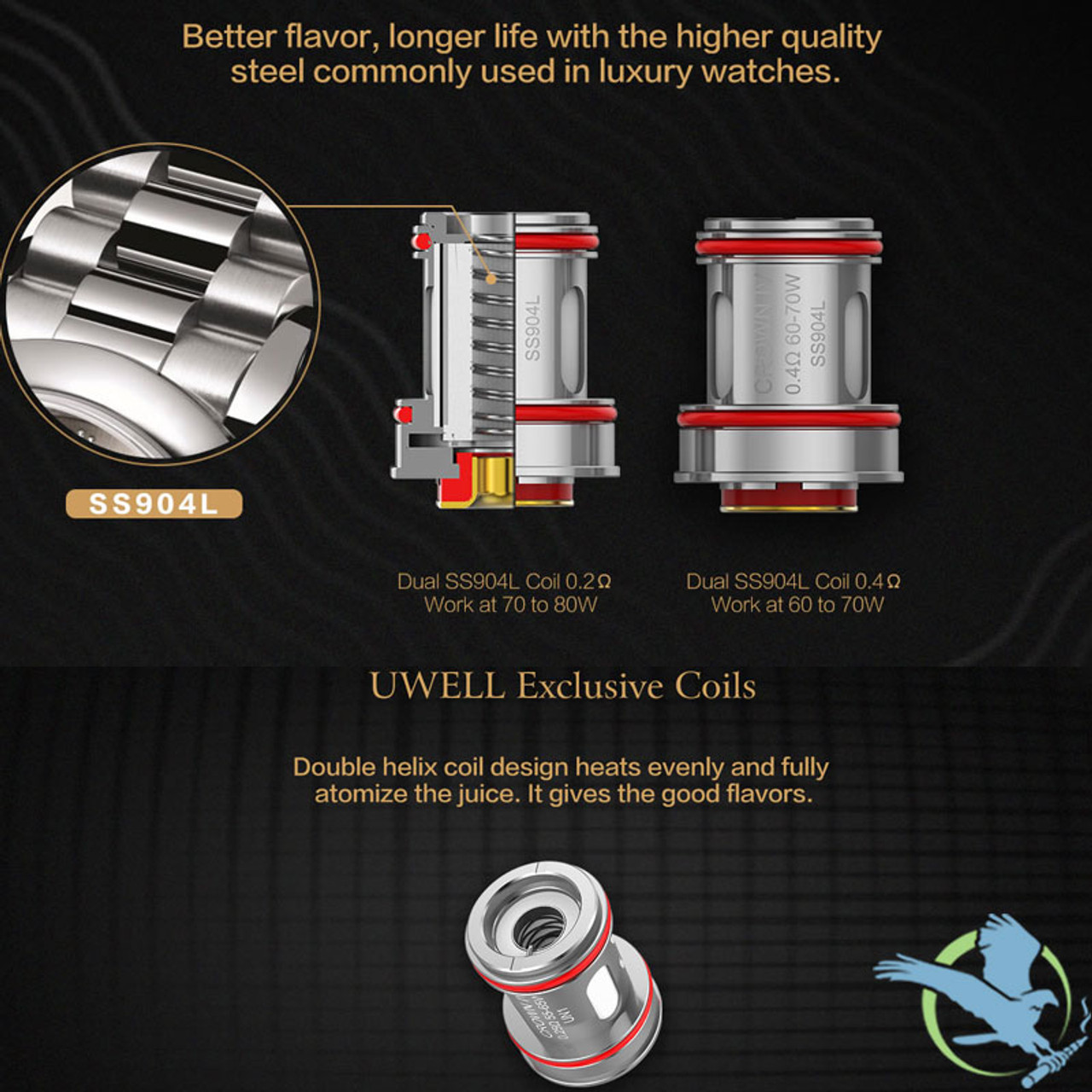 UWELL Crown IV Replacement Coils - Pack of 4 (MSRP $15 00)