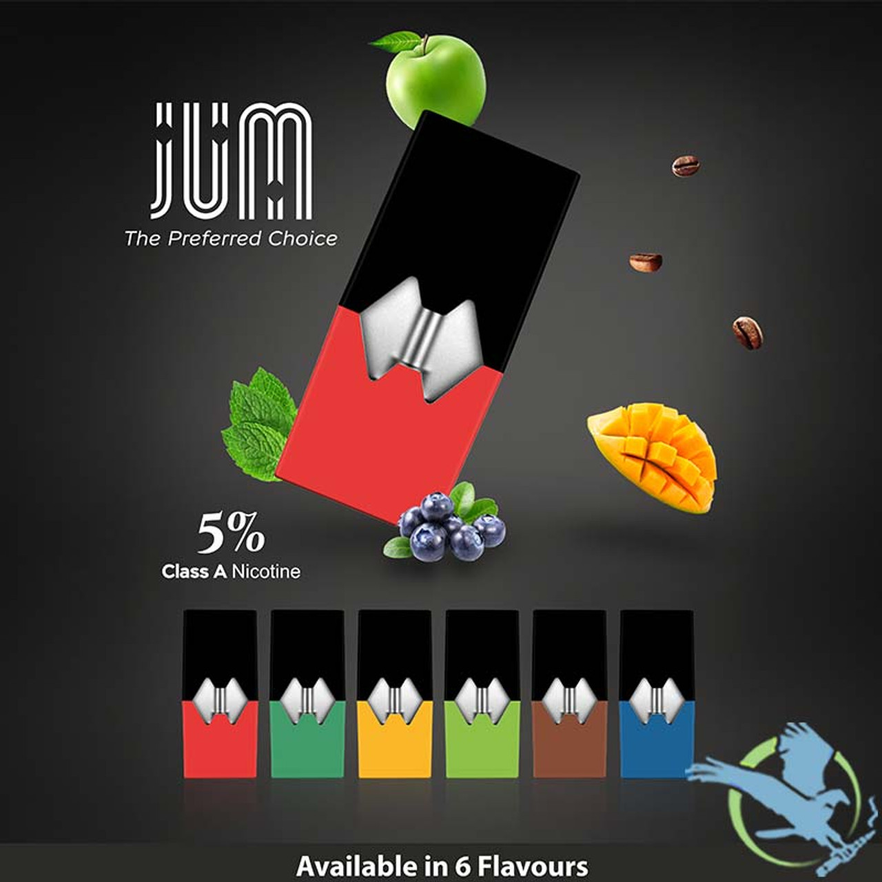 JUM 0 7ML Prefilled Replacement Compatible Pods - Display of 8 (MSRP $14 99  Each)