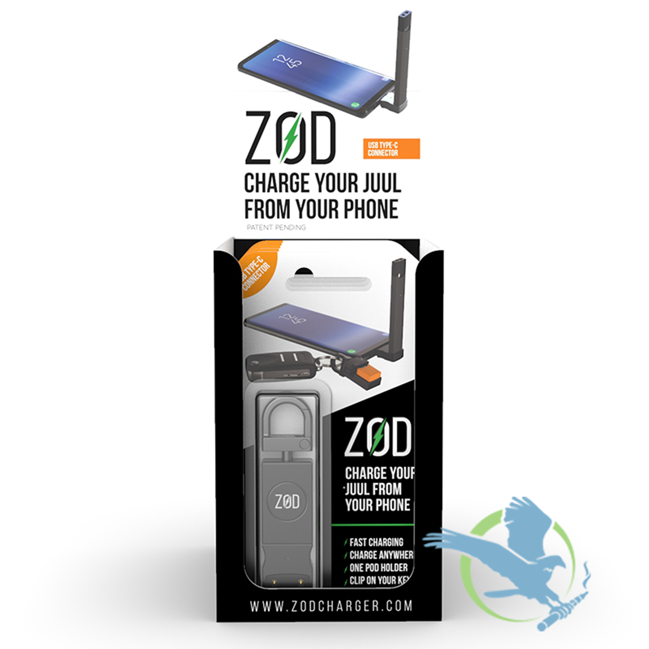 ZOD JUUL Compatible Charger | Hardware | Midwest Distribution