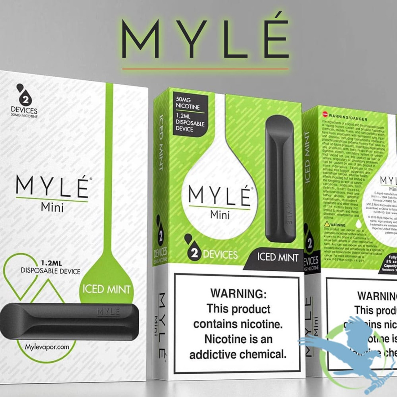 Myle Mini 1 2ML AIO Disposable Pod Devices - Pack of 2 (MSRP $14 99)