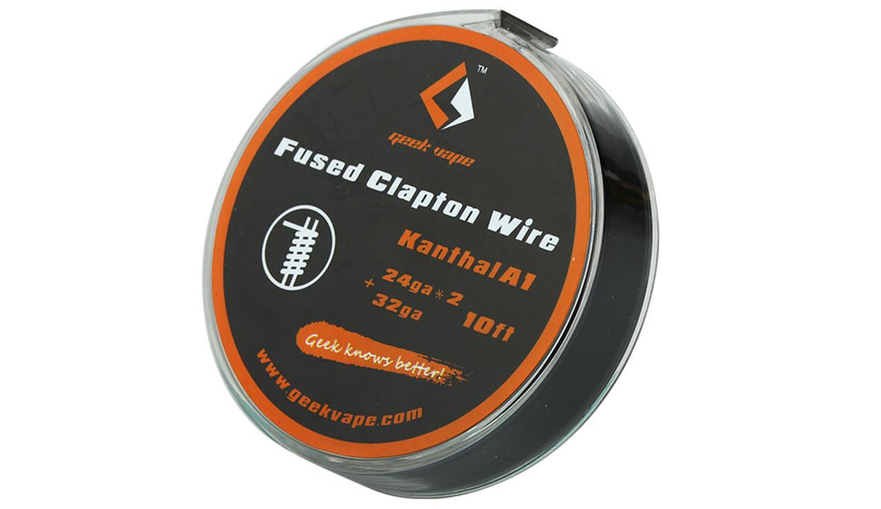 Geek Vape Fused Clapton Wire 'Kanthal A1'( 24ga*2 + 32ga) 10ft 1pc (MSRP  $9 00)