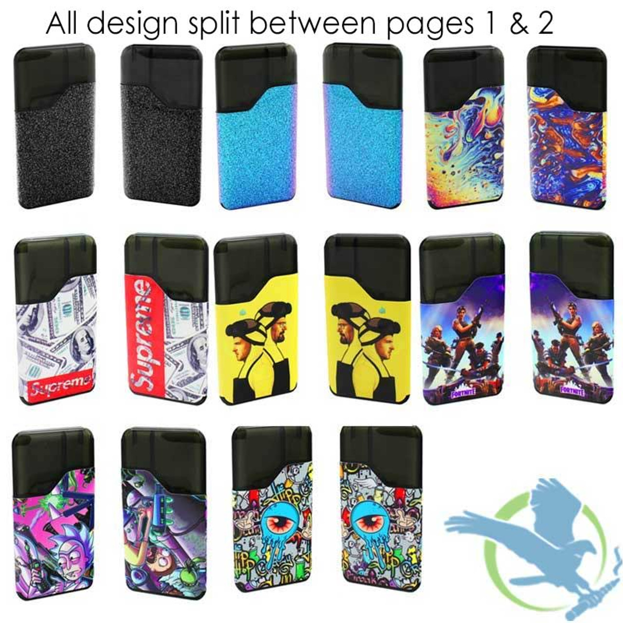 Vape Central Group Vinyl Wrap For Suorin Air Page Two *Drop Ships* (MSRP  $10 00)