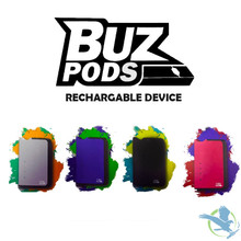 BUZ Pods Pod Device Battery Mod With USB Charger - Display of 5