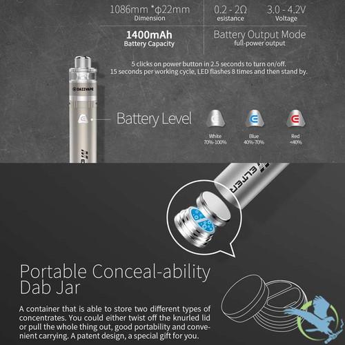 Dazzvape Melter 1400mAh Variable Voltage Wax Pen Starter Kit (MSRP $40 00)