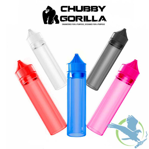 Chubby Gorilla Signature 60ML LDPE Unicorn Bottles With Child Resistant Caps - Pack of 100