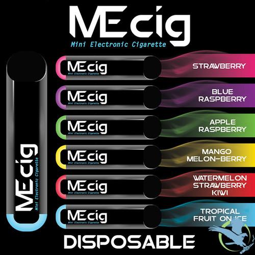 MEcig AIO 280mah 1.3ML Disposable Nicotine Salt Pod Device - Display of 5