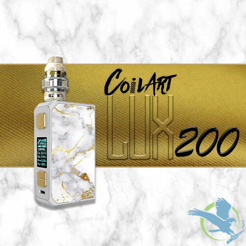 CoilArt LUX200 200W Starter Kit With 5.5ML LUX Tank - White