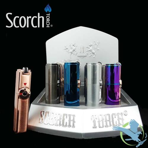 Scorch Torch Adjustable Gas Lighters With Flint Wheel - Display of 12 [61540]