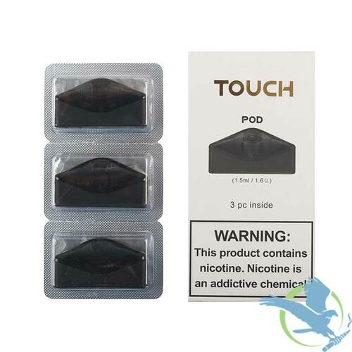 Asvape Touch 1.5ML Refillable Replacement Pods - Pack of 3