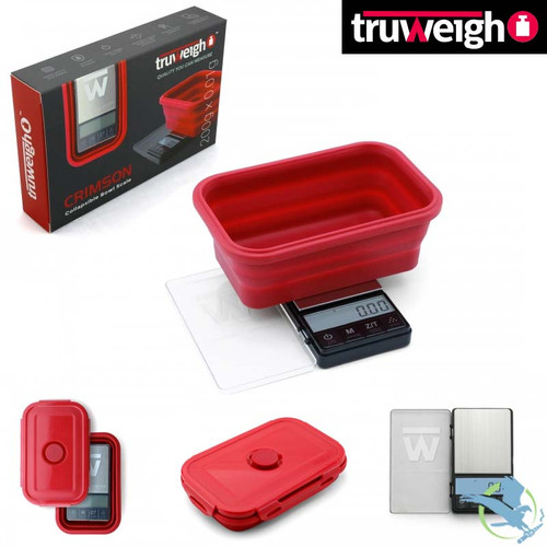 Truweigh CRIMSON Collapsible Bowl Scale 200g x 0.01g