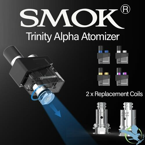 SMOK Trinity Alpha Single 2.8ML Refillable Replacement Pod Atomizer With 2 x Replacement Coils