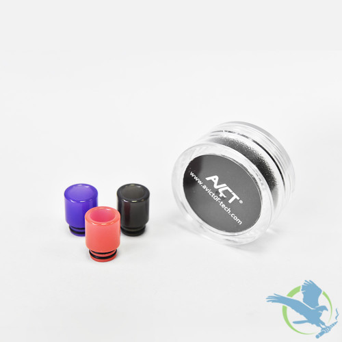 Resin 510 Color Change Drip Tips For Baby / Baby Prince - Pack of 10 - Assorted Colors [AV-D078]