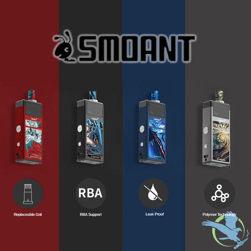 Smoant Pasito 1100mAh VW Pod System Starter Kit With Refillable 3ML Pod