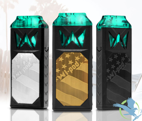Smoking Vapor Wi-Pod 350mAh Pod System Starter Kit By Mi-Pod With 2 x 1ML Refillable Pods