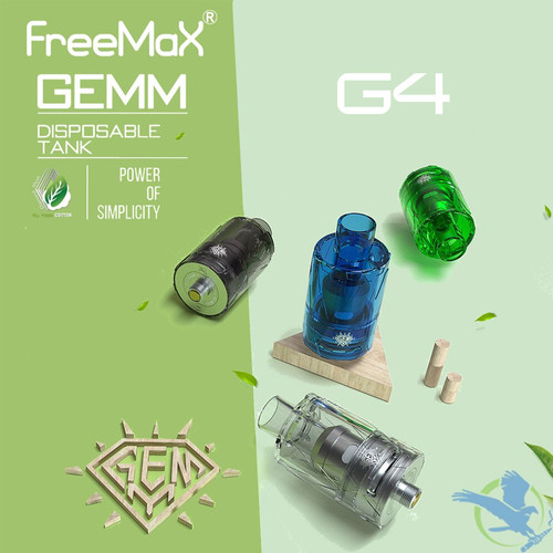 FreeMax GEMM 5ML Disposable Sub-Ohm Tank With G4 Coil - Pack Of  2