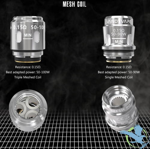 Vandy Vape Mesh Replacement M Coils - Pack of 4
