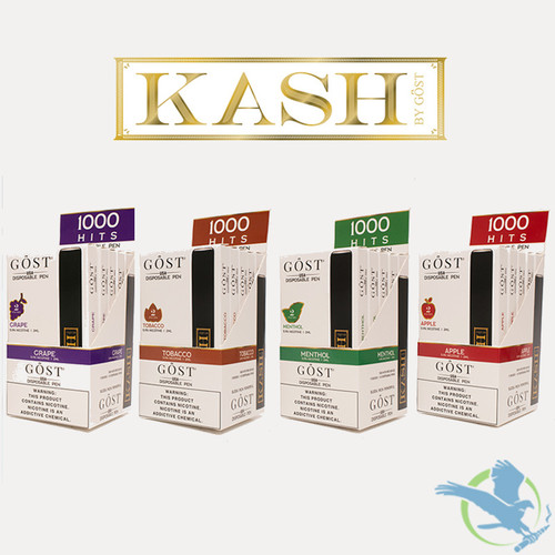 Kash By Gost Vapor 2ML Pre-Filled Disposable Pens - Display of 5 / Packs of 2