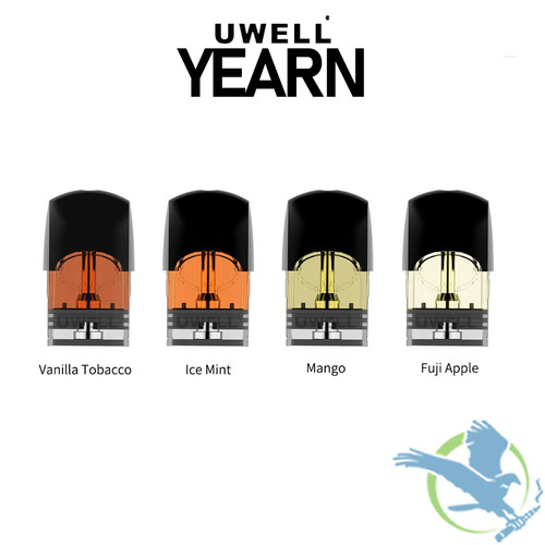 Uwell Yearn Prefilled Replacement Pods 1.5ML - Assorted Flavors - Pack of 4