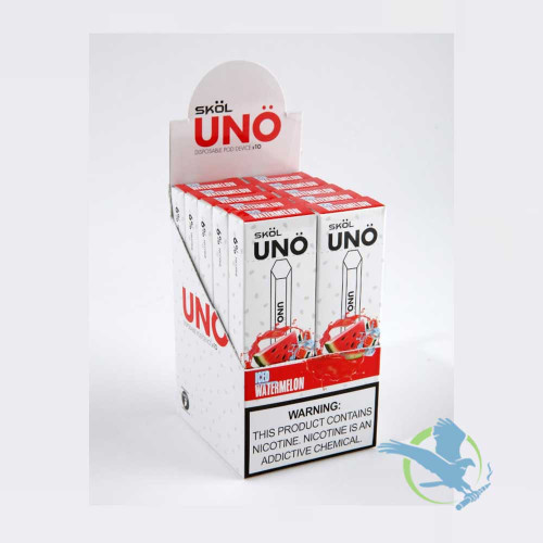 Skol UNO 1.2ML Prefilled Disposable Pod Device - Display Of 10 - Iced Watermelon