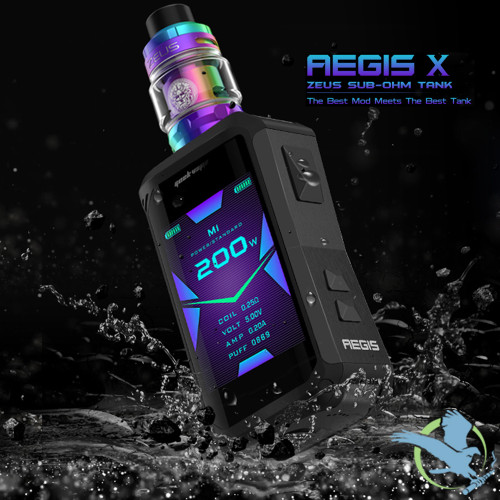 GeekVape Aegis X 200W TC Starter Kit With 3.5ML / 5ML Zeus Sub-Ohm Tank