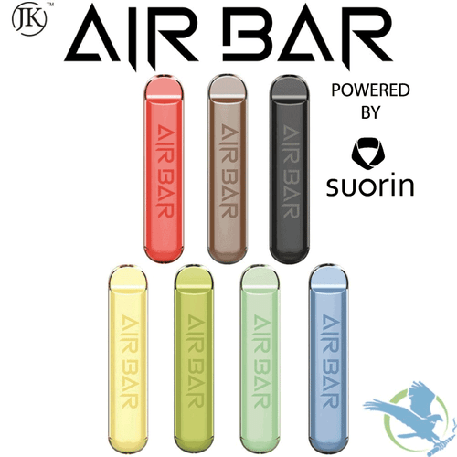 Air Bar 1.8ML 380mAh Prefilled Disposable Pod Device Powered By Suorin - Display of 10 - Blueberry Ice, Mango,  O.M.G, Peach, Pink Lemonade , Sour Apple, Watermelon Ice, Cucumber - 5% (50 mg)