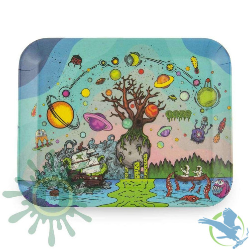 """Ooze Biodegradable Rolling Tray - Tree of Life - 7.5"""" x 6"""" (Small), 11"""" x 8"""" (Medium), 13"""" x 10"""" (Large)"""