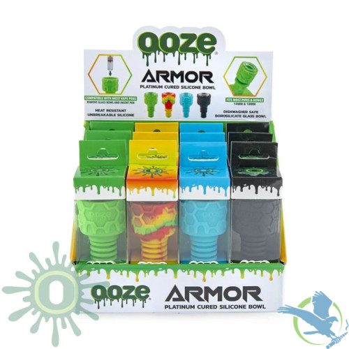 Ooze Armor Platinum Cured Silicone Bowl - Display of 12