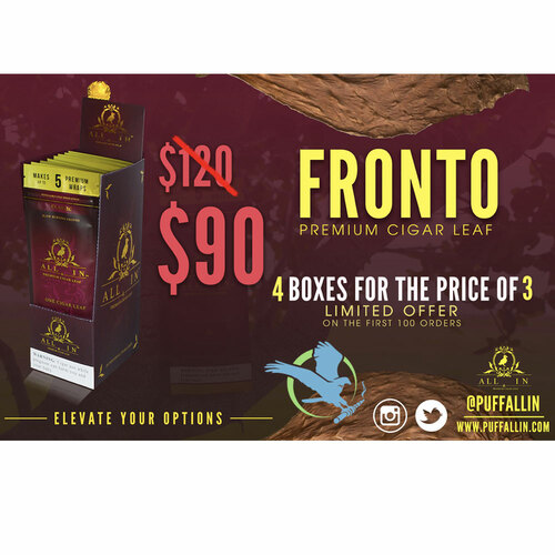 All In Cigar Leaf By J Leaf Tobacco Promo Bundle 3 + 1 20pk Display