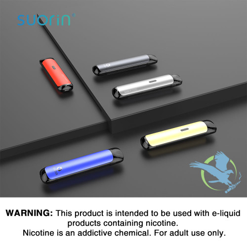 Suorin Shine 700mAh Pod System Starter Kit With 2 x 2ML Refillable Pod - Space Grey, Teal Blue, Black, Silver, Red,Mint Green, Gold