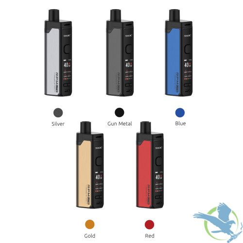 SMOK RPM Lite 1250mAh Pod System Starter Kit With 3.2ML Refillable RPM Pod - Blue,Gold,Gun Metal,Red,Silver