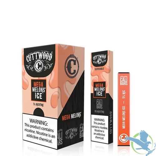 Cuttwood x Cali Bars 280mAh 1.3ML Disposable Prefilled Nicotine Salt Pod Device - Display of 10 - Mega Melons Ice