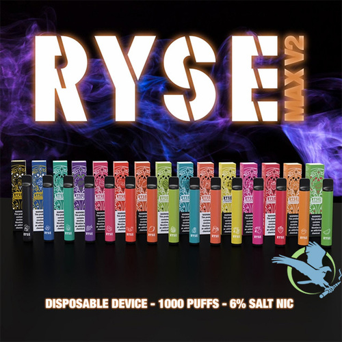 Ryse Max V2 3.5ML 1000 Puffs 550mAh Prefilled Salt Nicotine Disposable Pod Device - Display of 10