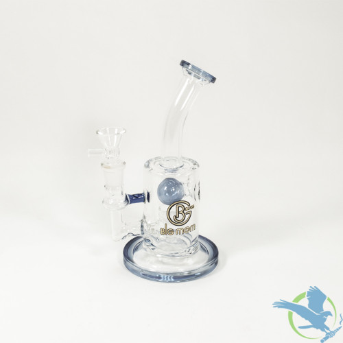 Big B Mom Glass Water Pipe Clear Design With Honeycomb Perc - 308 Grams - 7.5 Inches - Assorted Colors [BM014]
