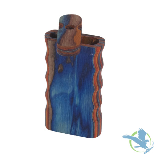 Wooden Dugout Box - Grip Style - Multi-Color - 4 Inches