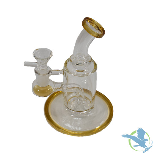 Big B Mom Glass Water Pipe Rig Mini Cylinder - 209 Grams - 6 Inches - Assorted Colors [BN036]