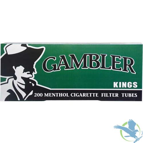 Gambler King Size Menthol Cigarette Filter Tubes - Pack of 200 - Display of 5