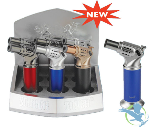 Scorch Torch Ray Gun 45 Degree Torch - Assorted Colors - Display of 6 [61566]