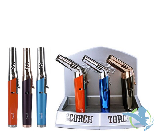 Scorch Torch Flex Pencil Adjustable Angle Torch - Assorted Colors - Display of 9 [61583]