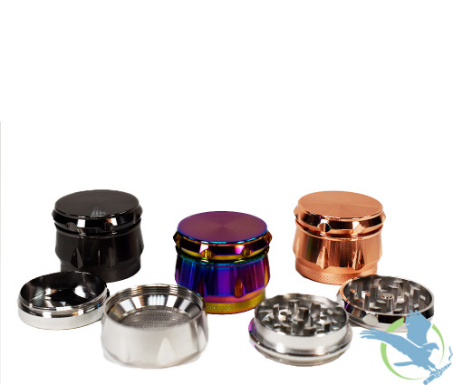 BLO Grooved Edge Grinder- 4 Parts - 1.75 Inches [BB 2087-4]