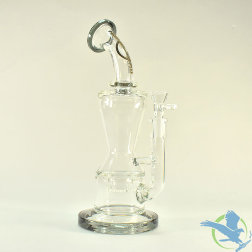 Big B Mom Glass Water Pipe With Globe Honeycomb Perc and Flare Base - 674 Grams - 13.75 Inches - Assorted Colors [BM192]
