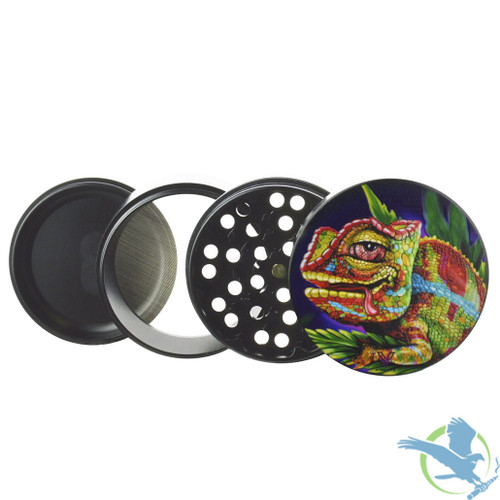 V Syndicate Clean Cut 2.5 Inch 4 Piece Non-Stick Grinder - 63mm - Cloud 9 Chameleon