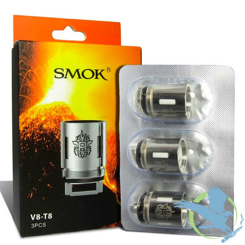 SMOK V8-T8 0.15ohm Coils for TFV8 Tank - Pack of 3 (MSRP $20.00)