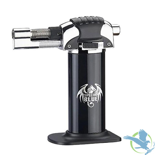 Special Blue Small Single Flame Professional Butane Torch - Black Panther