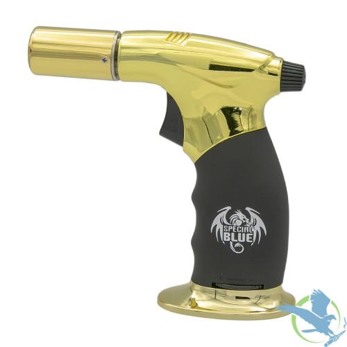 Special Blue Diablo Professional Butane Torch - Gold